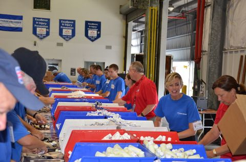 St. Augustine USO Care Package Stuffing Party