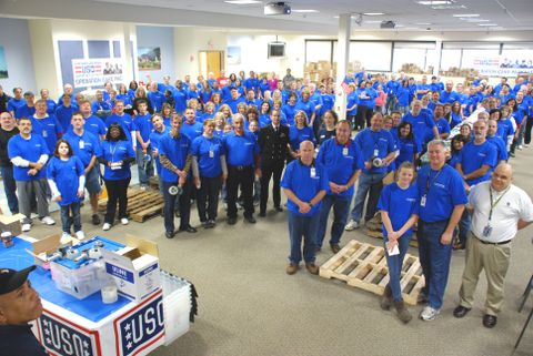 USO Care Package Stuffing Party (a)