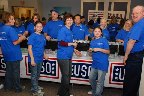USO Care Package Stuffing Party (b)