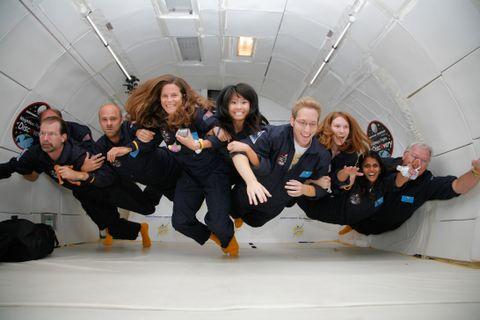 California teachers experience weightlessness