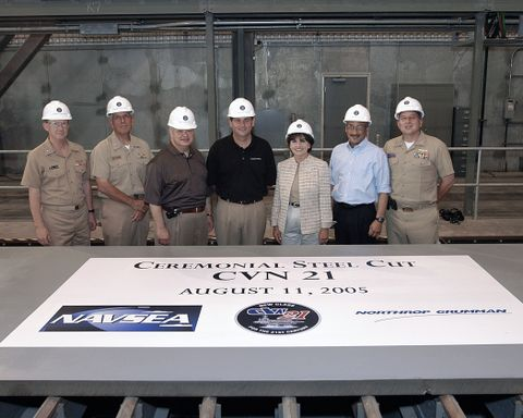 CVN 21 Steel<br /> Cut Ceremony
