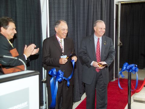 Photo Release -- Northrop Grumman Dedicates Manufacturing Center to Dr. David D. Lynch, Father of a Unique, Highly Reliable Gyro Technology