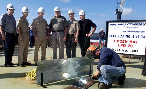 Grenn Bay (LPD 20) Keel-Laying
