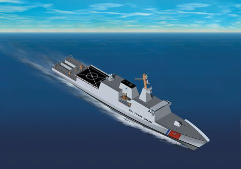 Artist's concept of new class of National Security Cutter