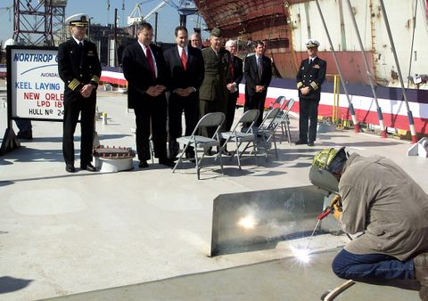 USS New Orleans Keel-Laying
