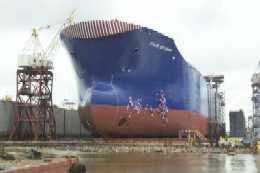 Northrop Grumman Christens Third Double-Hulled Tanker