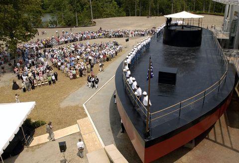 Ceremonial Christening USS Monitor Replica