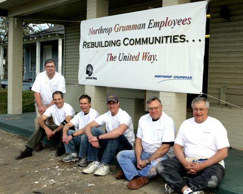 Photo Release -- Northrop Grumman Team Lends Skilled Hands to Rebuild Community