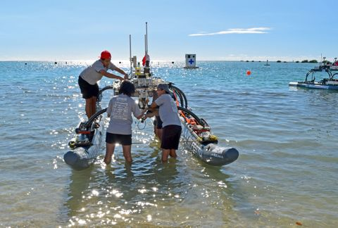Northrop Grumman Engineers Mentor University Teams at Pacific Rim Maritime RobotX Challenge