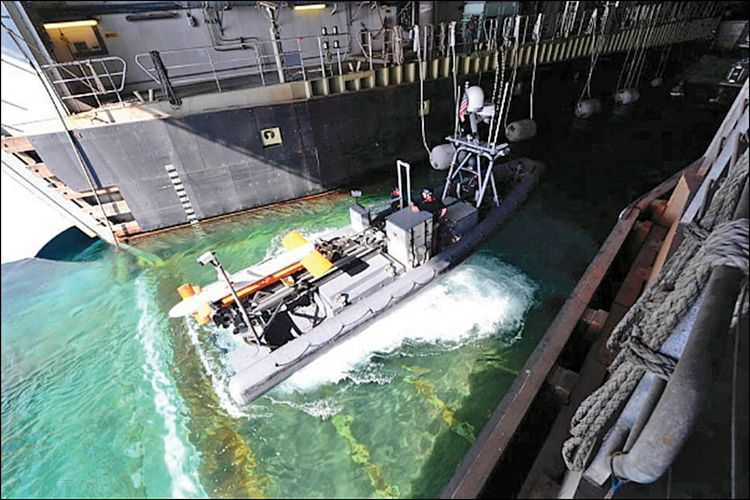 AQS-24 Well Deck Launch