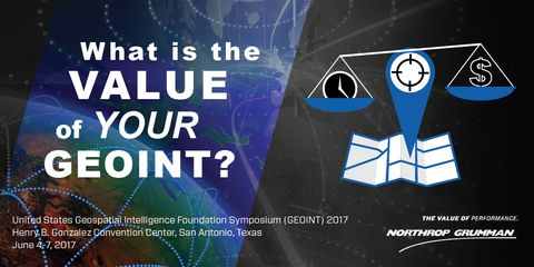 Northrop Grumman Demonstrates Value of GEOINT Data to Mission Success for Intelligence and National Security Community at GEOINT 2017