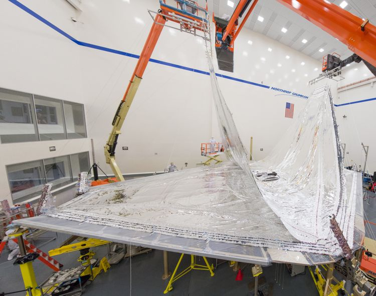 Sunshield Layers Fully Integrated on NASA's James Webb Space Telescope