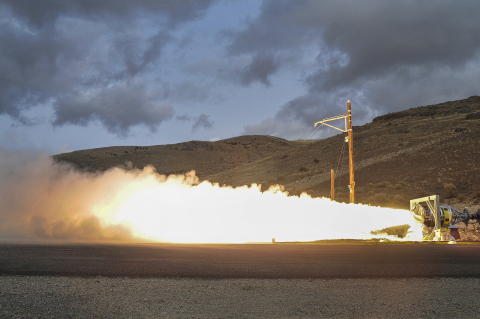 Orbital ATK successfully conducted a ground level static fire test of the Medium Class Stage III sol ...