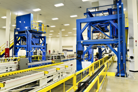 Airbus A350 automated stiffener forming facility at Orbital ATK   s Aircraft Commercial Center of Exce ...