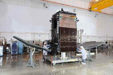 SKYM-1 in Orbital ATK   s Dulles, Virginia satellite manufacturing facility. (Photo: Business Wire)
