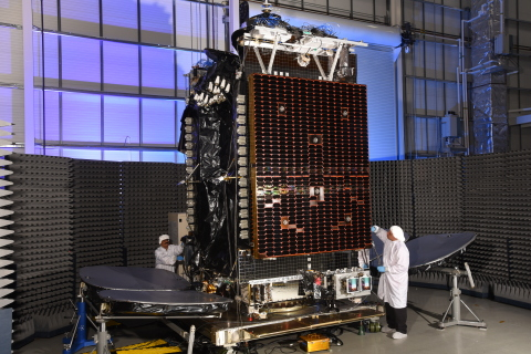 HYLAS 4 was built in Orbital ATK   s satellite manufacturing facility in Dulles, Virginia. (Photo: Bus ...