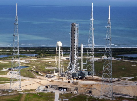 Artist conception of Orbital ATK's Next Generation Launcher on pad 39B at Cape Canaveral, Florida. ( ...