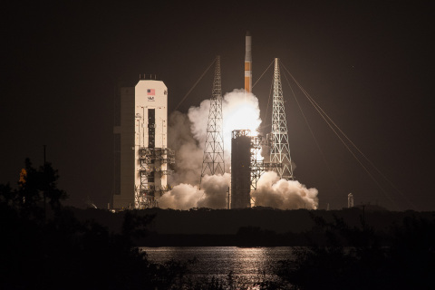 Cape Canaveral Air Force Station, Fla. (Aug. 19, 2016) - A United Launch Alliance (ULA) Delta IV roc ...