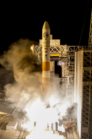 Vandenberg Air Force Base, Calif. (Feb. 10, 2016)     A United Launch Alliance (ULA) Delta IV rocket b ...