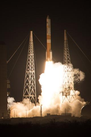 Cape Canaveral Air Force Station, Fla. (Dec. 7, 2016)     Four Orbital ATK solid rocket motors boost U ...