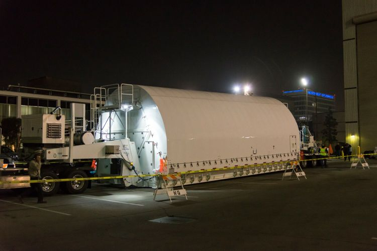 Combined Optics and Science Instruments of NASAs James Webb Space Telescope Arrive Safely at Northrop Grumman