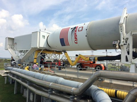 Northrop Grumman's Antares Team Demonstrates New Capability to Load Cargo Just Before Launch