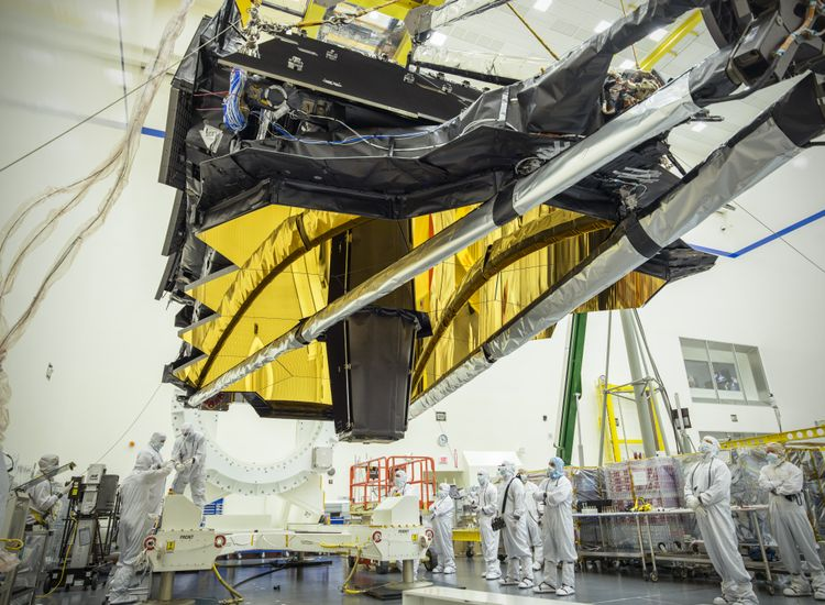 NASAs James Webb Space Telescope Optics and Science Instruments in Northrop Grummans Clean Room
