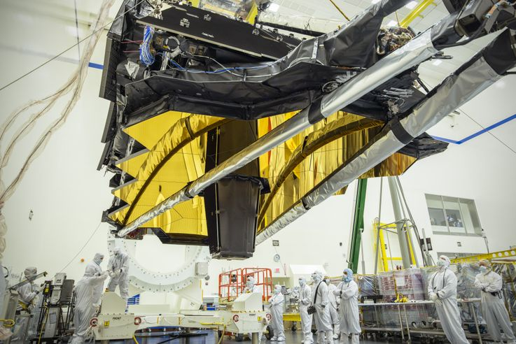 NASA's James Webb Space Telescope Optics and Science Instruments in Northrop Grumman's Clean Room