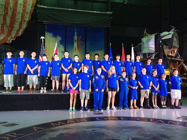 Space Camp graduation