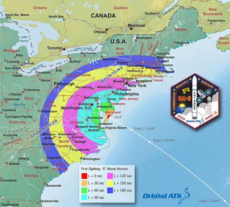 OA-5 Launch Viewing Map - FirstSighting_med