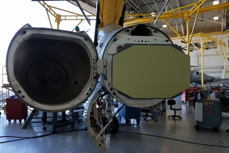 Northrop Grumman Performs Successful SABR Fit-Check on F/A-18C Fighter at Marine Corps Air Station Miramar