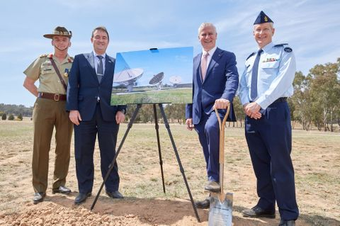 Australian Deputy Prime Minister Michael McCormack Turns First Sod at Satellite Ground Station East, Kapooka