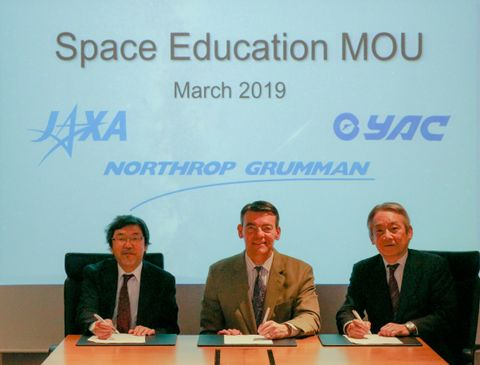 Northrop Grumman Signs Agreement with JAXA and Young Astronauts Club of Japan for Collaboration in Space Education