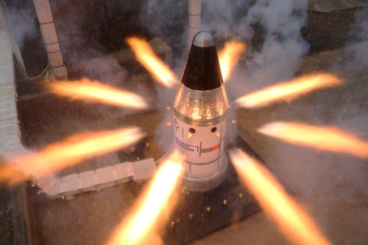 Northrop Grumman Completes Final Qualification Test for NASAs Orion Launch Abort System Attitude Control Motor