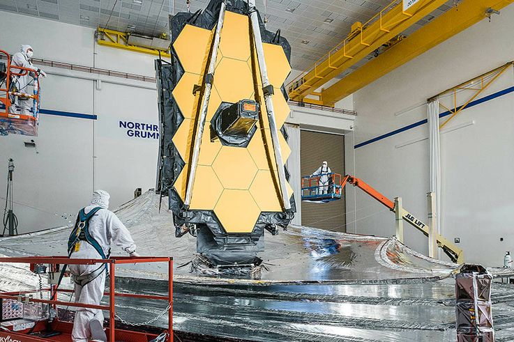 Northrop Grumman and NASA Complete Final Sunshield Deployment Test on the James Webb Space Telescope