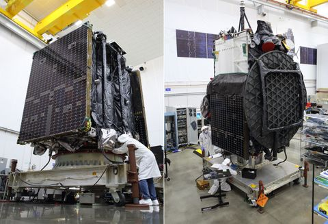 Northrop Grummans Second Mission Extension Vehicle and Galaxy 30 Satellite Begin Launch Preparations in French Guiana