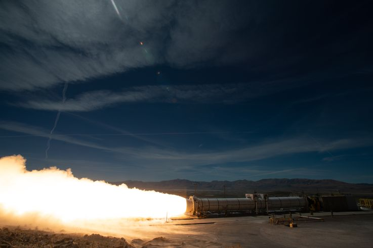 Northrop Grumman Successfully Tests NASA's Space Launch System Booster for Artemis Missions