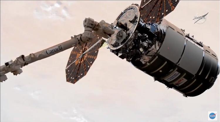 Northrop Grummans Cygnus Spacecraft Berths with International Space Station