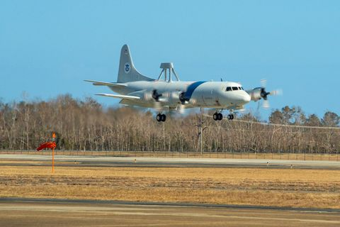 Northrop Grummans Aircraft Maintenance and Fabrication Center Inducts First CBP P-3 Orion