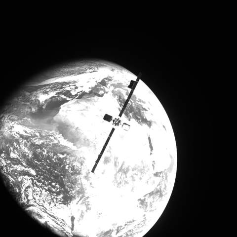 An image of Intelsat 10-02 taken by MEV-2 during a calibration approach.