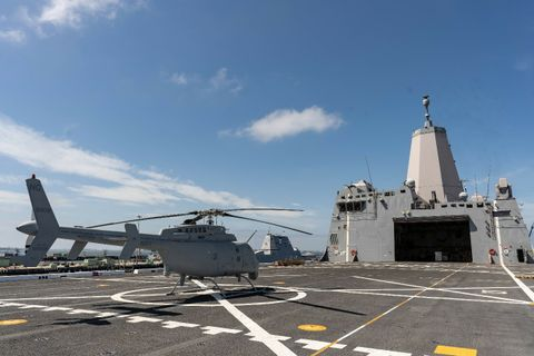 Northrop Grummans MQ-8C Fire Scout Completes Successful Fit Check aboard USS Anchorage LPD-23