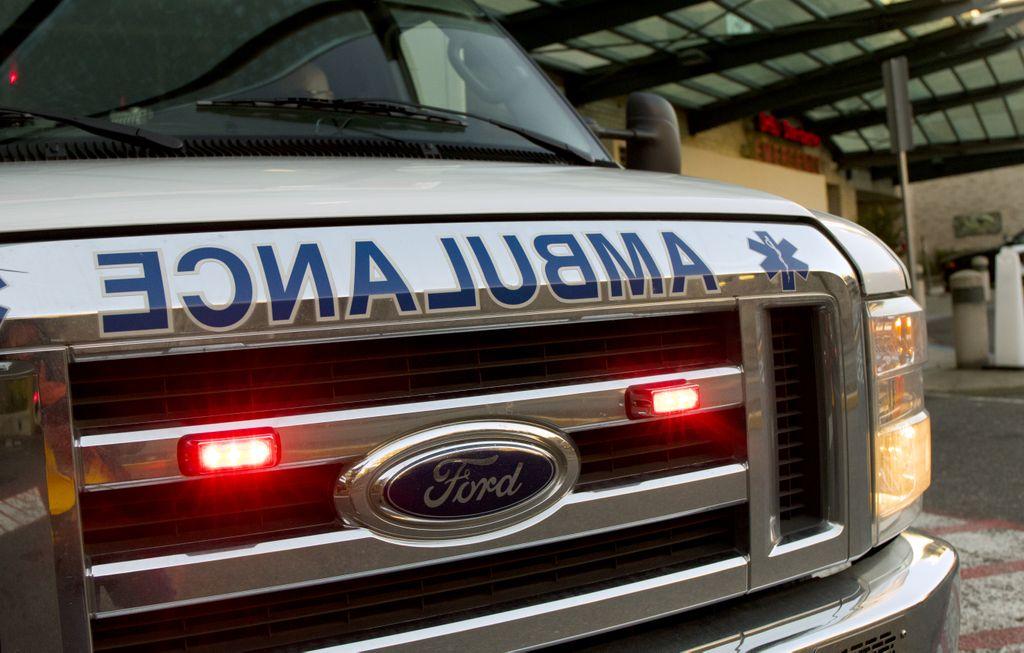 closeup of front of an ambulance