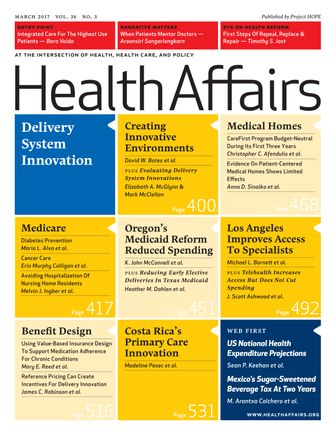 March 2017 Health Affairs cover