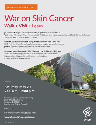 War on Skin Cancer Event Flyer