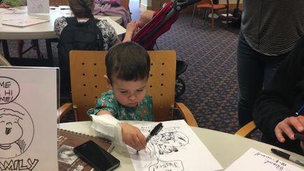 VIDEO: Cartoonists visit Doernbecher