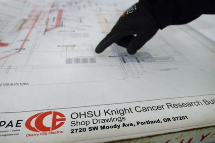 Knight Cancer Research construction