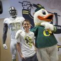 Childhood cancer survivors design Oregon Ducks football uniform