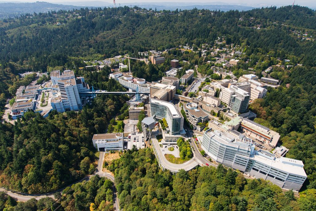 Aerial OHSU Marquam Hill