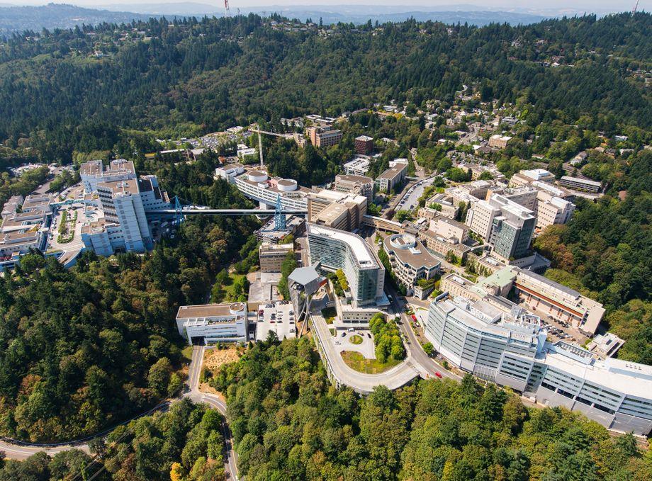 Aerial OHSU Marquam Hill