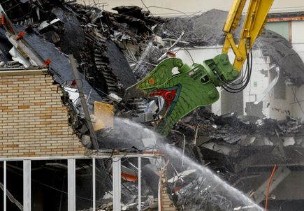 Demolition of the old School of Dentistry building